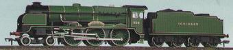 """31-407 Lord Nelson class 4-6-0 """"Lord St Vincent"""" in SR green"""