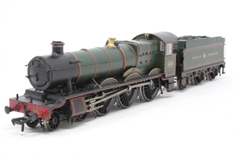"""32-003-PO13 Class 4900 Hall 4-6-0 4936 """"Kinlet Hall"""" in Great Western green with crest - Pre-owned - Like new"""