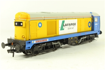 32-027U Class 20 20168 'Sir George Earle' in Blue Circle Yellow/Blue - limited edition for Invicta Rail