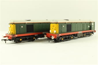32-027Z Class 20 Pack with 20030 'River Rother' & 20064 'River Sheaf' in BR Green Livery with Indicator Disks - Limted Edition for Model Rail