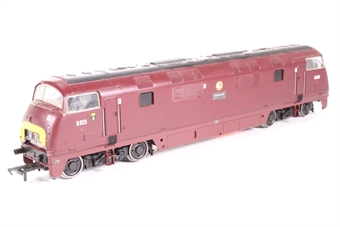 32-052A-PO02 Class 42 Warship D823 'Hermes' in BR Maroon - Pre-owned - DCC fitted - repainted - extensive damage to bodywork at boh ends, many loose items in box - imperfect box