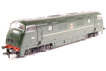 32-052A-PO03 Class 42 Warship D823 'Hermes' in BR Green - Pre-owned - runs with slight wobble - imperfect box