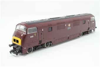 32-052A-PO05 Class 42 Warship D823 'Hermes' in BR Maroon - Pre-owned - DCC fitted - slow runner- reliveried - marks on one side- incorrect box