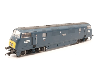 32-054-PO01 Class 42 Warship D831 'Monarch' in BR Blue  - Pre-owned - weathered- loose bogies- poor runner- imperfect box