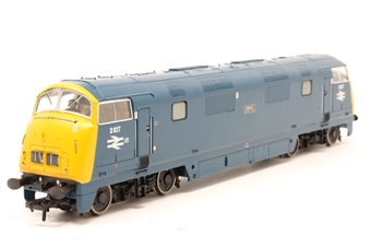 32-056DC-PO10 Class 42 Warship D827 'Kelly' in BR blue - DCC fitted - Pre-owned - Like new