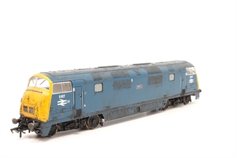 32-056DC-PO11 Class 42 Warship D827 'Kelly' in BR blue - DCC fitted - Pre-owned - Weathered - Decoder removed- Analogue compatible