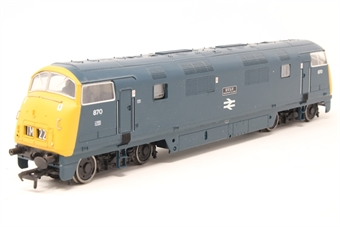 32-057-PO05 Class 42 Warship D870 'Zulu' in BR Blue - Pre-owned - Imperfect box - Missing one buffer