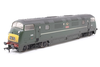 32-059-PO01 Class 42 Warship D818 'Glory' in BR Green - Pre-owned - DCC fitted - Weathered, loose buffer, imperfect box