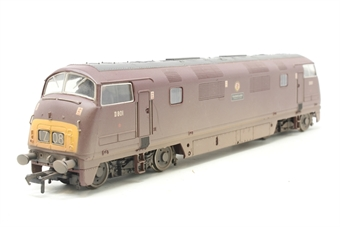 32-060-PO03 Class 42 Warship D801 'Vanguard' in BR Maroon (weathered) - Pre-owned - missing buffers - imperfect box