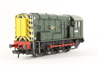 32-101A Class 08 Shunter D3586 in BR Green with Wasp Stripes