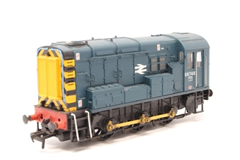 32-102B-PO06 Class 08 Shunter 08748 in BR Blue - Pre-owned - weathered - imperfect box