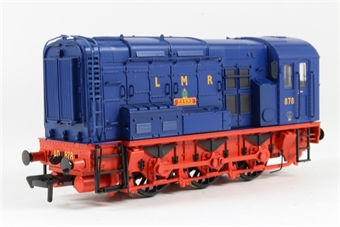 32-102U Class 08 Shunter 878 'Basra' in Longmoor Military Railway Blue & Red Livery - Limited Edition for Modelzone
