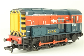 32-102W Class 08 Shunter 97800 'Ivor' in BR Blue & Red Livery - Limited Edition for Modelzone