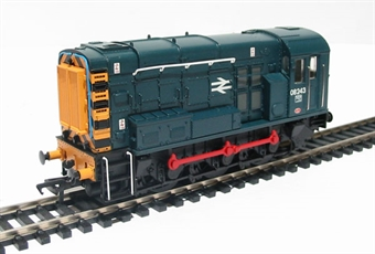 32-111 Class 08 Shunter 08243 in BR Blue with Hinged Door