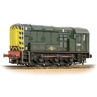 32-116B Class 08 D3881 in BR green with wasp stripes - weathered