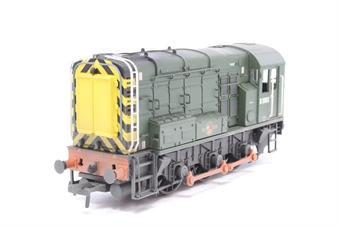 32-117-PO08 Class 08 Shunter D3963 in BR Green with Wasp Stripes (weathered) - Pre-owned - loose glazing, imperfect box