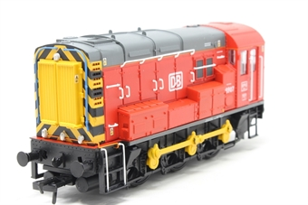 32-119-PO06 Class 08 Shunter 08907 in DB Schenker red - Pre-owned - Like new