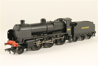 32-150V Class N 36679 Locomotive 1860 in Southern Railway Black Livery with Southern Sunshine Lettering on Tender - Limited Edition for Modelzone
