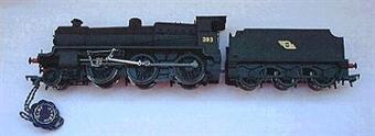 32-150W Class N 2-6-0 383 and tender in CIE matt smoke black livery
