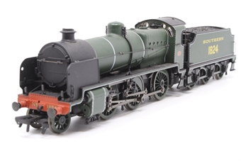 32-153-PO16 Class N 2-6-0 1824 in SR olive green - Pre-owned - sold as seen - Zero 1 chip fitted - non runner - imperfect box
