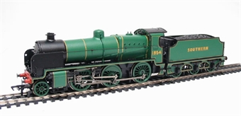 32-155 Class N 2-6-0 1854 and tender in SR malachite green