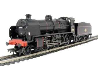 32-164 Class N 2-6-0 31406 & tender in BR lined black with late crest & standard 4MT chimney