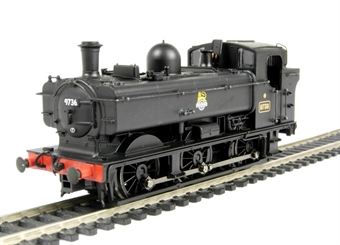 32-205 Class 8750 0-6-0 Pannier tank 9736 in BR black with early emblem