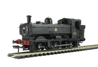32-209 Class 8750 Pannier Tank 3711 in BR black with early emblem.