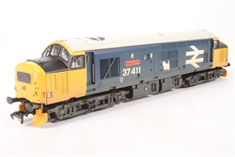 32-375X Class 37/4 37411 'The Institute of Railway Signal Engineers' in BR Blue with Large Logo (weathered) - Limited Edition for Model Rail