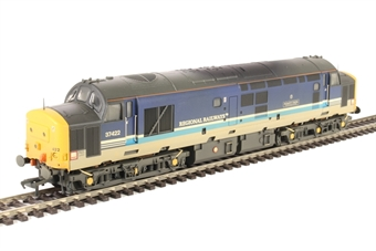 "32-376A Class 37/4 37422 ""Robert F. Fairlie"" in Regional Railways livery - weathered"