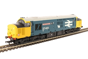 "32-377A Class 37/4 37401 ""Mary Queen Of Scots"" in BR large logo blue"