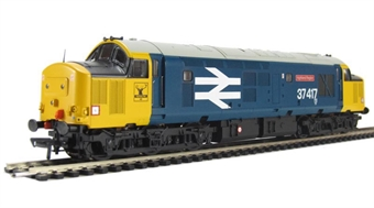 32-377DS Class 37/4 37417 'Highland Region' in BR Large Logo Blue (DCC Sound Fitted) £170