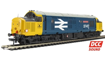 32-377DS Class 37/4 37417 'Highland Region' in BR large logo blue. DCC Sound £155