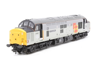 32-380-PO12 Class 37/5 37671 'Tre Pol And Pen' in Railfreight Distribution Livery - Pre-owned - broken buffer