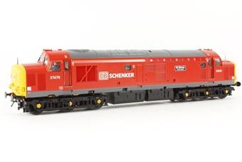 32-381P Class 37/5 37670 'St Blazey T&RS Depot' in DB Schenker Red Livery - Rail Express Magazine Exclusive