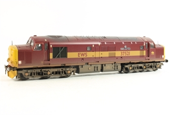 32-381R Class 37/5 37251 'English China Clays' in EWS Red & Yellow Livery - Limited Edition for Kernow MRC