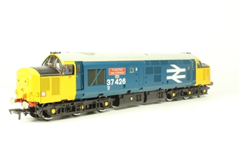 32-381W Class 37/4 37426 'Y Lein Fach - Vale of Rheidol' in BR Blue Livery with Yellow Ends & Large Logo - Limited Edition & Grey Livery