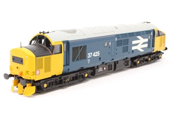 32-381X-PO01 Class 37/4 37425 in BR Blue Livery with Yellow Ends & Large Logo - Limited Edition for Geoffrey Allison                 - Pre-owned - DCC Sound-fitted, Glazing missing from one cab end