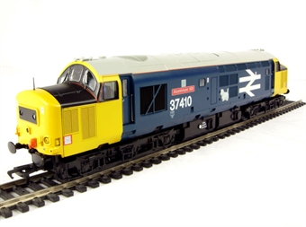 32-382 Class 37/4 37410 'Aluminium 100' in BR Blue with Large Logo