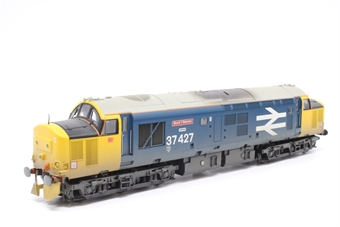 32-388-PO11 Class 37/4 37427 'Bont Y Bermo' in BR Large Logo Blue (weathered) - Pre-owned - DCC fitted, detailed with snow plough, replacement box
