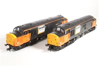 32-390Y Class 37/7 Twinpack 37713 in Loadhaul Grey & Orange & 37884 'Gartcosh' in Loadhaul Black Livery - Limited Edition Foresight Publications