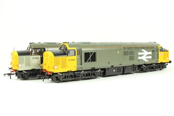 32-390Z Class 37/9 37905 & 37906 in Railfreight Grey - Limited Edition for Kernow Model Railway Centre