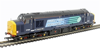 """32-392 Class 37/5 37688 """"Kingmoor TMD"""" in Direct Rail Services compass blue"""