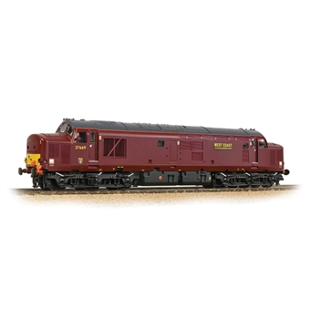 32-395DS Class 37/5 37669 in West Coast Railway Company maroon - Digital sound fitted