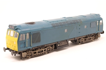 32-401-PO Class 25/3 Derby in BR Blue - Pre-owned - Converted to P4 Wheel set, transfers removed, etched fan grills fitted, modification to cab sides, Panels added to body sides, NEM Sockets and couplings removed, body loose from chassis