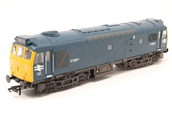 32-404-PO01 Class 25/3 D7667 in BR Blue - Pre-owned - Converted to EM Wheel set, weathered, imperfect box