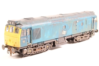 32-410-HXW Class 25/2 25087 in BR Blue - Pre-owned - Converted to EM Gauge, DCC fitted, weathered and renumbered, worn box