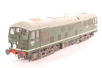 32-430B-PO02 Class 24 D5061 in BR Plain Green - Pre-owned - Converted to P4 Wheel set, weathered, NEM Sockets and couplings removed, one end detailed with route disks