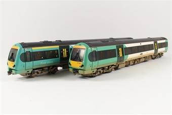 32-460Y Class 171/7 Turbostar 2 car DMU in Southern livery (weathered) (Model Zone Ltd Ed)