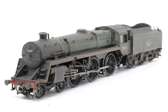 32-504-PO14 Standard class 5MT 73014 & BR1 tender in BR green with late crest - Pre-owned - detailed with crew, imperfect box
